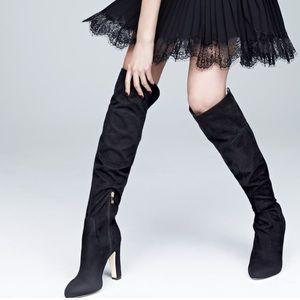 Ivanka Trump Over the Knee Black Boots